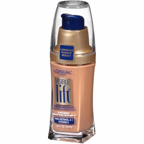 L'Oreal Paris Visible Lift Honey Beige Serum Absolute Foundation Perspective: right