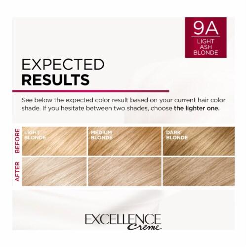 L'Oreal Paris Excellence Creme 9A Light Ash Blonde Hair Color Perspective: right
