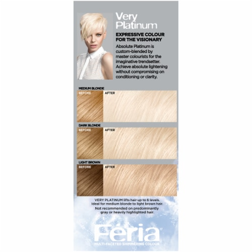 L'Oreal Feria Absolute Platinum Very Platinum Hair Color Perspective: right