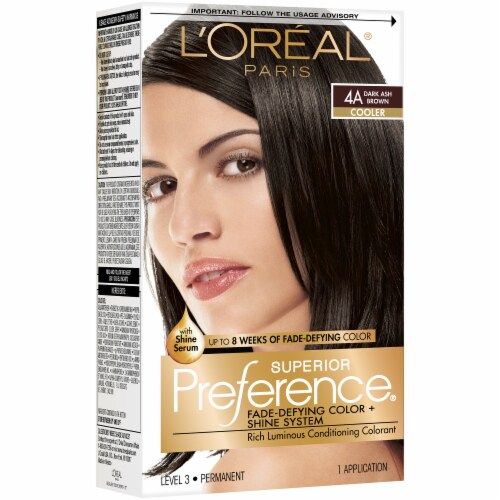 L'Oreal Paris Superior Preference 4A Dark Ash Brown Cooler Permanent Hair Color Kit Perspective: right