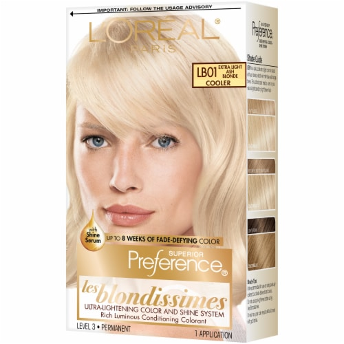 L'Oreal Paris Preference LB01 Extra Light Ash Blonde Hair Color Perspective: right