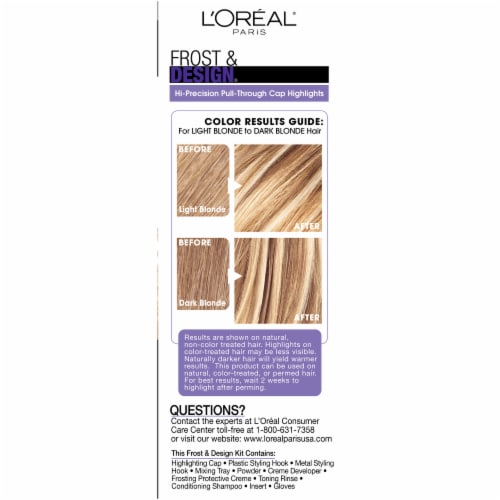 L'Oreal Frost & Design H85 Champagne Hair Color Perspective: right