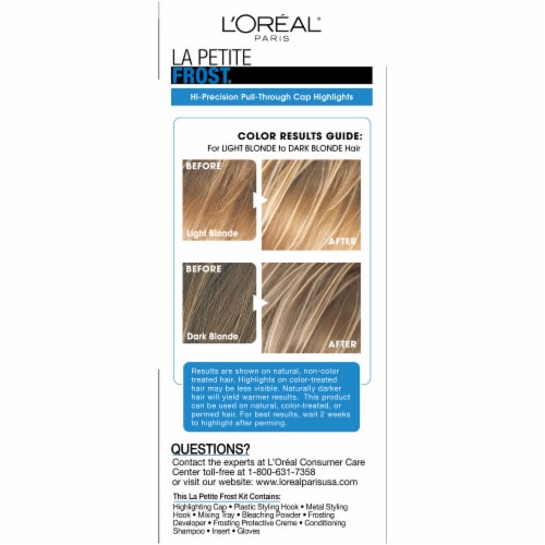 L'Oreal La Petite H75 Frost Chardonnay Hair Color Perspective: right