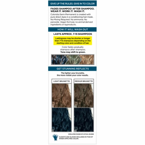 L'Oreal Paris Colorista Midnight Blue 15 Semi-Permanent Hair Color Perspective: right