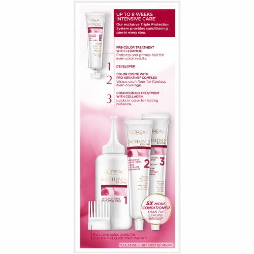 L'Oreal Paris Excellence Creme Triple Protection 7.5N Dark Neutral Blonde Permanent Hair Color Kit Perspective: right