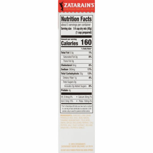 Zatarain's Mild Jambalaya Rice Mix Perspective: right