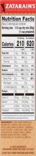 Zatarain's Whole Grain Blends Cilantro Lime Rice & Quinoa Perspective: right