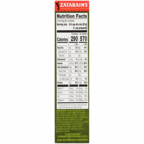 Zatarain's Garden District Kitchen Lemon Butter and Herb Brown Rice with White Beans Perspective: right