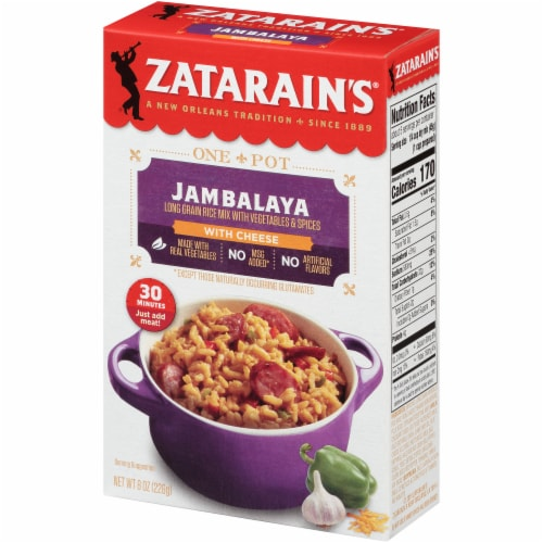 Zatarain's One Pot Jambalaya with Cheese Rice Mix Perspective: right