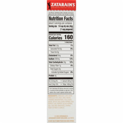 Zatarain's® Reduced Sodium Jambalaya Mix Perspective: right