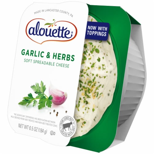 Alouette Garlic & Herb Soft Spreadable Cheese Perspective: right