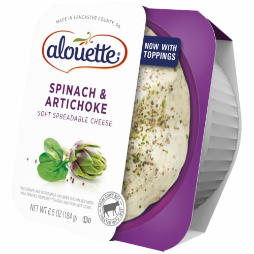 Alouette Spinach & Artichoke Soft Spreadable Cheese Perspective: right