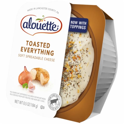 Alouette Toasted Everything with Sea Salt Spreadable Cheese Perspective: right