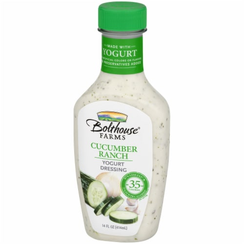 Bolthouse Farms Cucumber Ranch Yogurt Salad Dressing Perspective: right