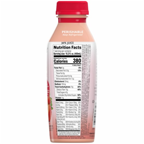 Bolthouse Farms Strawberry Parfait Breakfast Protein Smoothie Perspective: right