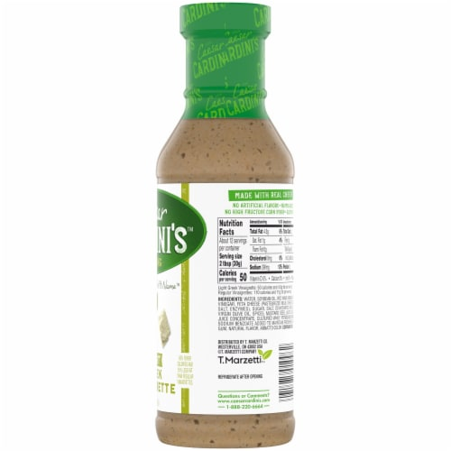 Cardini's Light Greek Vinaigrette Salad Dressing Perspective: right