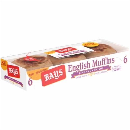 Bays Cinnamon Raisin English Muffins Perspective: right