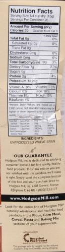 Hodgson Mill Unprocessed Wheat Bran Perspective: right