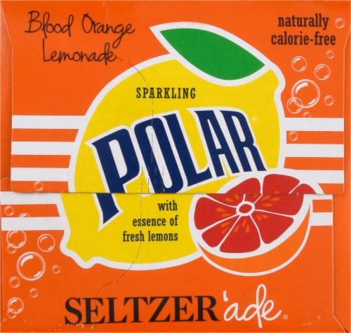 Polar Seltzer'ade Blood Orange Lemonade Seltzer Perspective: right