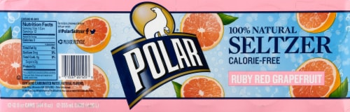 Polar Ruby Red Grapefruit Seltzer Perspective: right