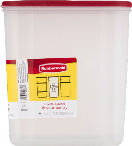 Rubbermaid Modular Canister - Red/Clear Perspective: right