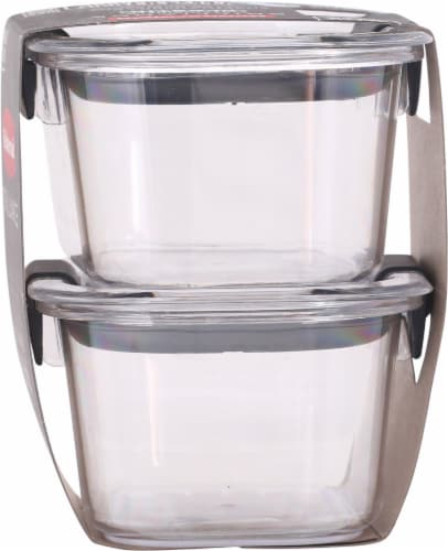 Rubbermaid Brilliance Small Food Containers - Clear Perspective: right