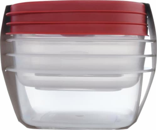 Rubbermaid Easy Find Lids Food Storage Containers - Clear/Red Perspective: right