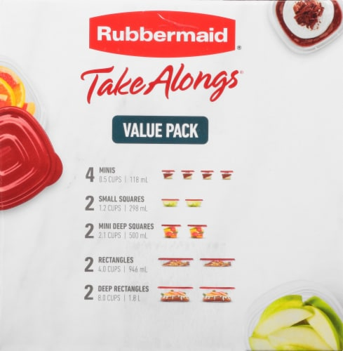 Rubbermaid Take Alongs Container Value Pack - Ruby Perspective: right