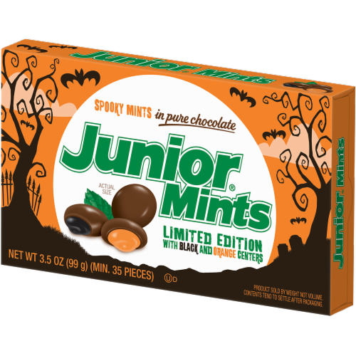 Junior Mints Halloween Candy Perspective: right