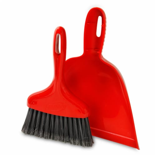 Libman® Dust Pan and Whisk Broom - Red Perspective: right