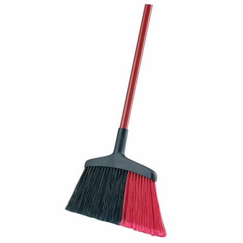 Libman® High Power Indoor-Outdoor Angle Broom – Red/Black Perspective: right