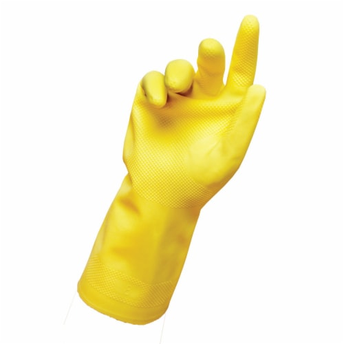 Libman® All-Purpose Latex Gloves - Large - Yellow Perspective: right