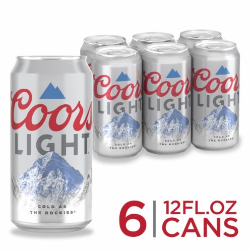 Coors Light® American Lager Beer Perspective: right