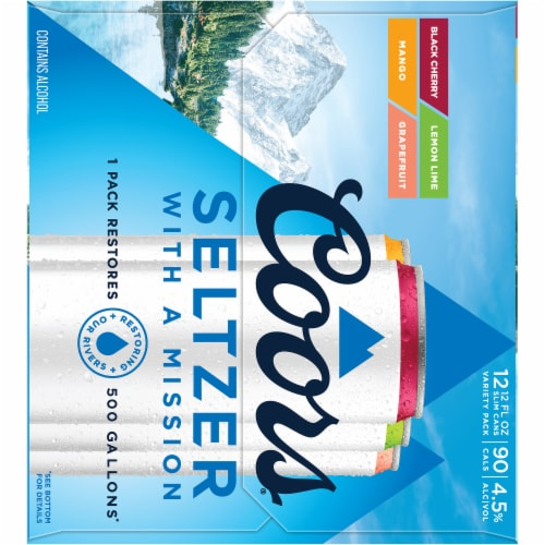 Coors Gluten Free Hard Seltzer Variety Pack Perspective: right