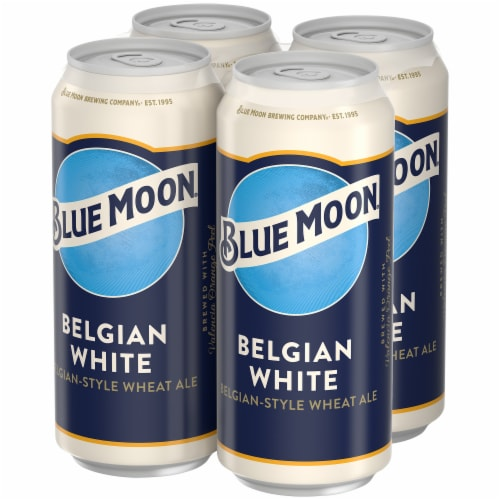 Blue Moon Belgian White Belgian Style Wheat Ale Beer Perspective: right