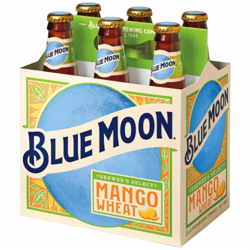 Blue Moon Mango Wheat Ale Beer Perspective: right