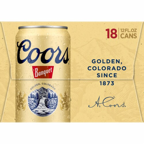 Coors Banquet Lager Beer 18 Cans Perspective: right