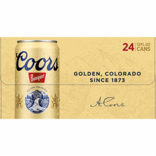 Coors Banquet Lager Beer Perspective: right