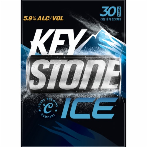 Keystone Ice Lager Beer Perspective: right
