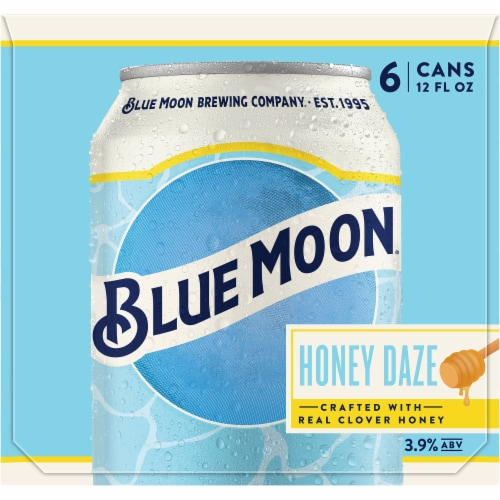 Blue Moon Honey Daze Seasonal Beer Perspective: right