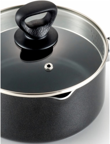 Mirro Get a Grip Saucepan with Strainer Lid - Black/Silver Perspective: right
