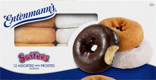 Entenmann's Soft'ees Assorted Frosted Donuts Perspective: right