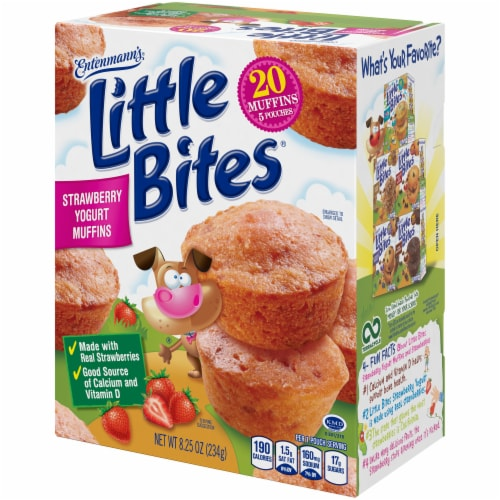 Entenmann's Little Bites Strawberry Yogurt Muffins Perspective: right