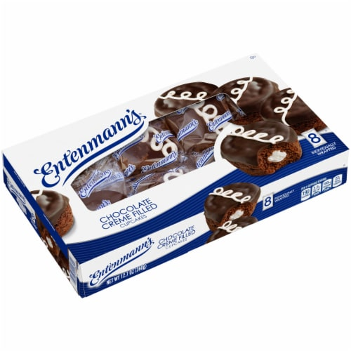 Entenmann's® Chocolate Creme Filled Cupcakes Perspective: right
