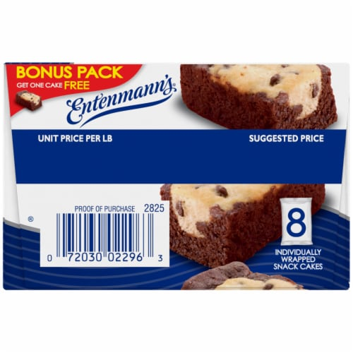 Entenmann's Brownie Chocolate Chip Mini Cakes 8 Count Perspective: right