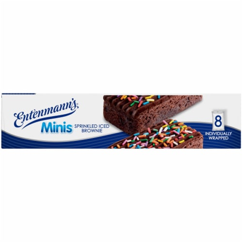 Entenmann's® Minis Sprinkled Iced Brownies Perspective: right