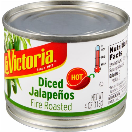 La Victoria Diced Hot Fire Roasted Jalapenos Perspective: right