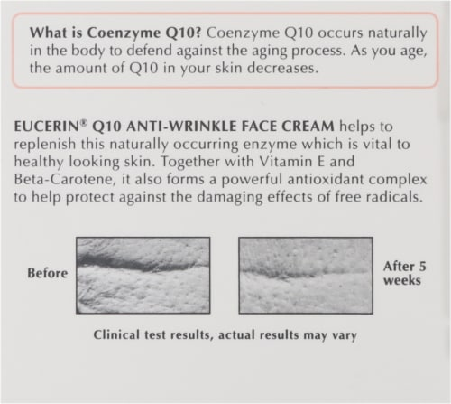 Eucerin Q10 Anti-Wrinkle Sensitive Skin Face Creme Perspective: right