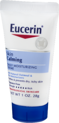 Eucerin Skin Calming Creme Daily Moisturizer Perspective: right