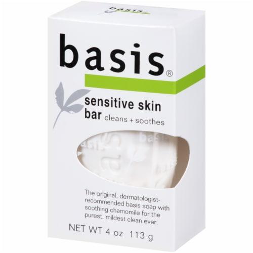 Basis Sensitive Skin Bar Soap 4 oz Perspective: right